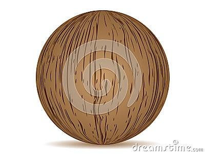 Ball wooden texture
