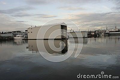 Ballard Lock on Union Lake Seattle