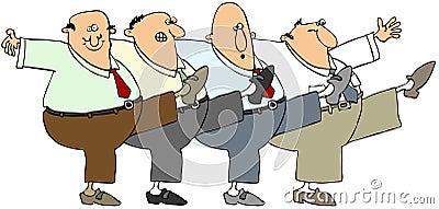 Ballare degli uomini anziani