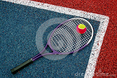 Balle de tennis et Racket-1