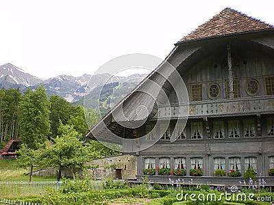 Ballenberg old Swiss alpine  chalet
