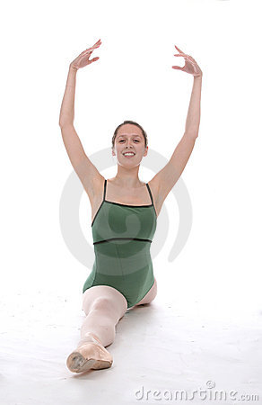 Ballerina with arms up