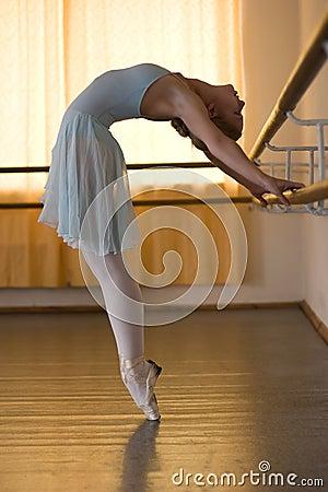 Ballerina in ballet class