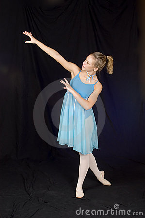 Ballerina in Blue