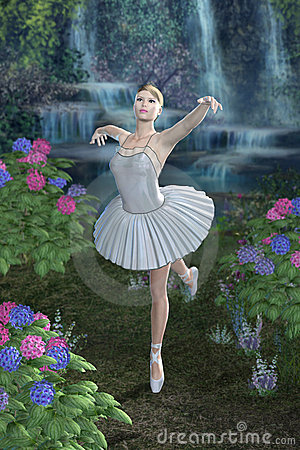 Ballerina Blue Waterfall