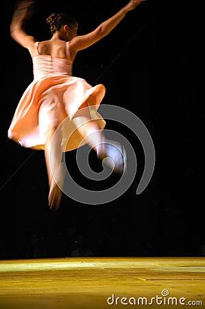 Ballerina in blur