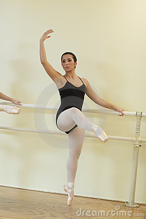 Ballerina in a dance studio