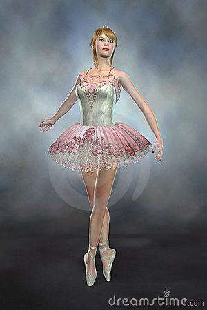 Ballerina Dancing on Toes