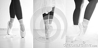Ballerina die op haar tenen danst