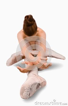 Ballerina doing stretches