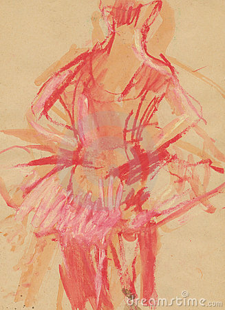 Ballerina, drawing 2
