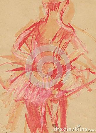 Ballerina, drawing 2