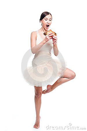 Ballerina with fancy bread