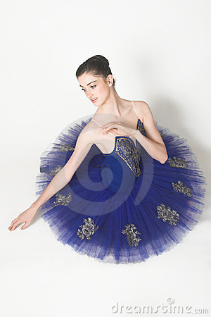 Free Ballerina In Blue Stock Photography - 4156002