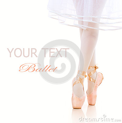 Free Ballerina Legs. Ballet Shoes. Pointe Royalty Free Stock Image - 26968846