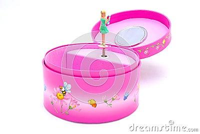 Ballerina in music box