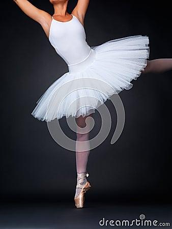 Ballerina performing a balancing act