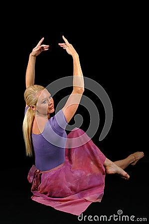 Ballerina Raising Hands