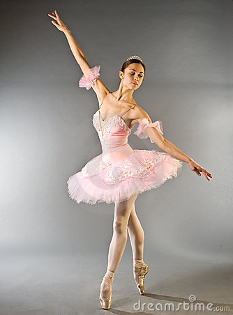 Ballerina s toe dance isolated