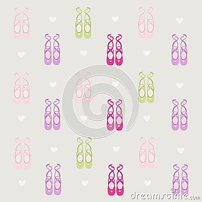 Ballerina shoes background
