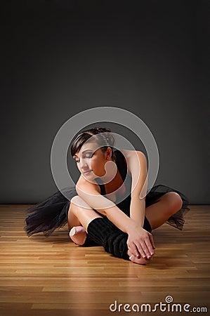 Ballerina sit on the floor
