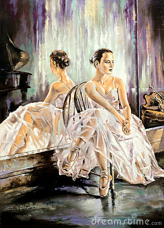 Free Ballerina Sitting Near A Mirror Royalty Free Stock Photography - 6762097