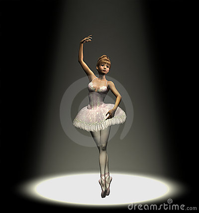 Ballerina in Spotlight