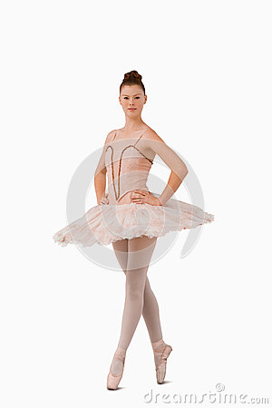 Ballerina standing on her tiptoes