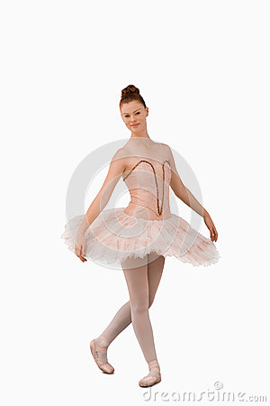 Ballerina standing in a pose