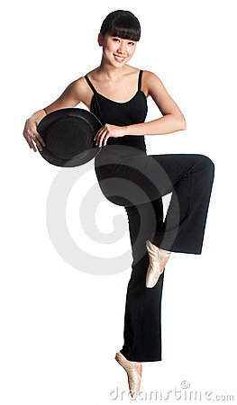 Ballerina with Top Hat