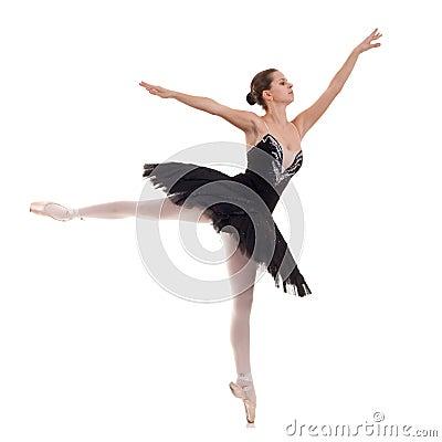 Free Ballerina Wearing Black Tutu Royalty Free Stock Photography - 16604717