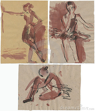 Ballerinas, drawing 3