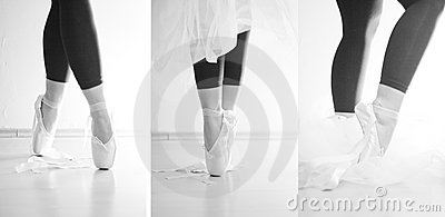 Ballerinatanzen auf ihren Zehen