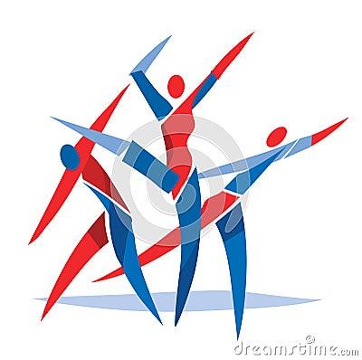 Ballerini di balletto di danza moderna illustrazione for Immagini di ballerine di danza moderna