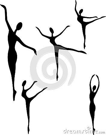 Ballet art silhouette