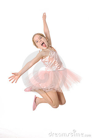 Ballet child making a crazy face