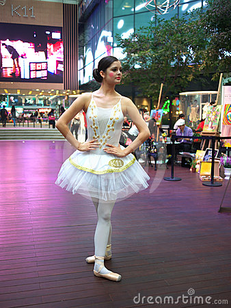 Ballet dance performance in K-11 in Hong Kong Editorial Stock Photo