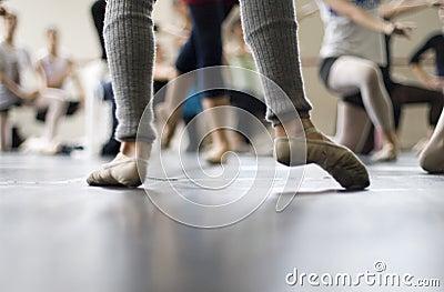 Ballet dance practice