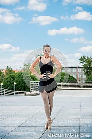 Ballet dancer dancing outdoor