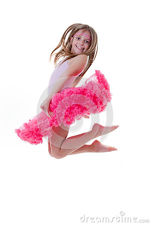 Ballet dancer jumping in tutu