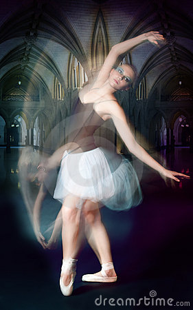 Ballet dancer in motion