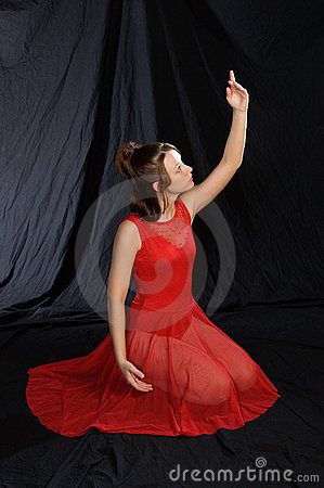 Ballet dancer in red