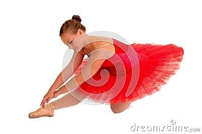 Ballet Dancer in Red Tutu