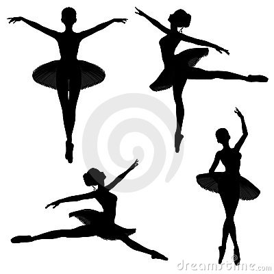 Ballet Dancer Silhouettes - 1