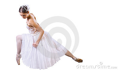 Ballet dancer sitting