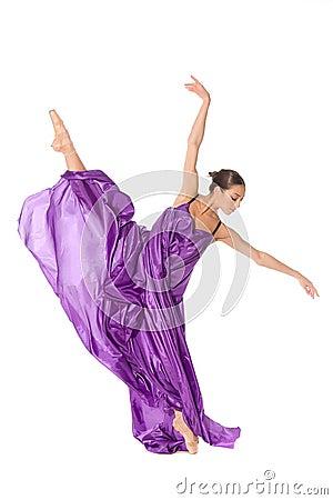 Ballet dancer split