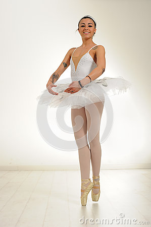 Free Ballet Dancer Tattooed Royalty Free Stock Image - 52823256