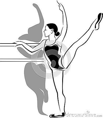 A ballet-dancer trainee