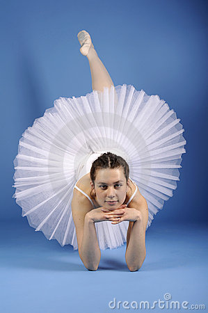 Ballet dancer in white tutu