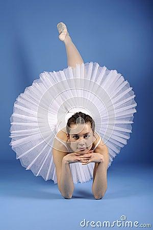Ballet dancer in white tutu